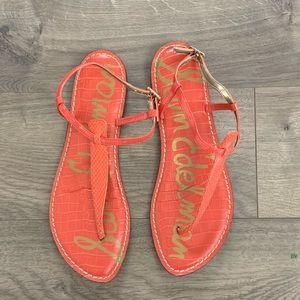 Sam Edelman Gigi t strap sandal in coral
